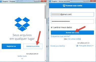 Widget do Dropbox para Chrome 1