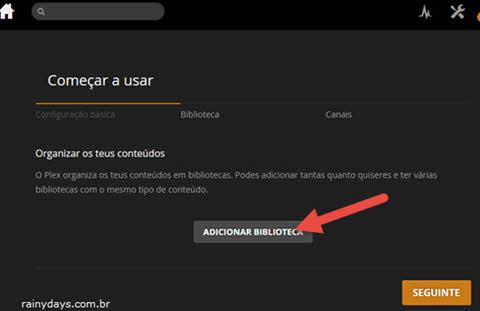 Adicionar biblioteca no PLEX do Windows