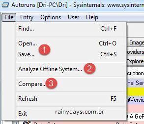 Autoruns para limpar computador com malware 3