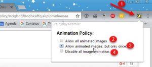Bloquear reprodução automática de GIF no navegador