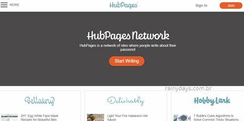 excluir conta do Hubpages