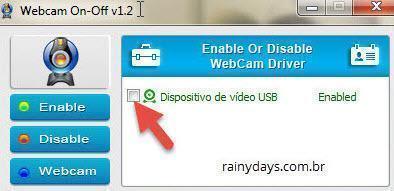 Como desligar e ligar webcam rapidamente 1