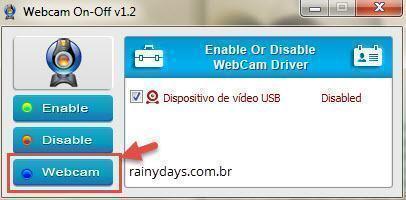 Como desligar e ligar webcam rapidamente 3