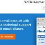 Excluir Conta do HushMail
