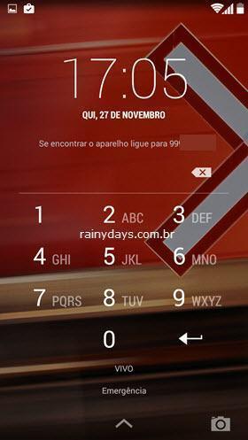 Informações de Contato na Tela de Bloqueio do Android