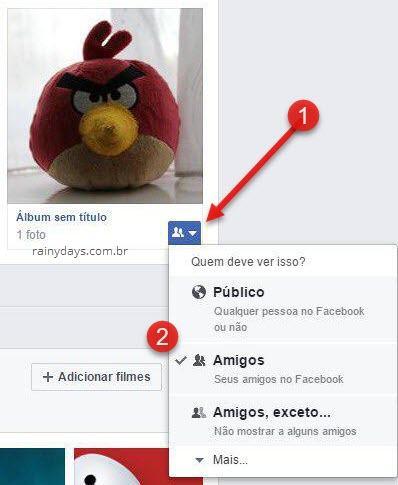 Quem deve ver isso Público de álgum do Facebook