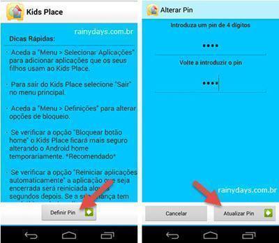 Configurar Android para criança usar