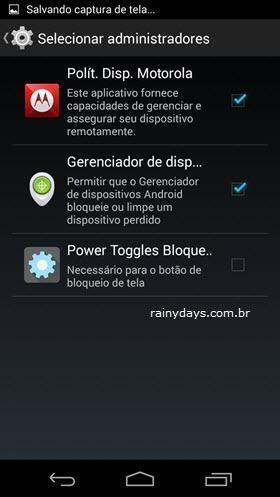 Descobrir Administradores Escondidos no Android