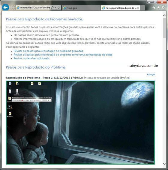 Gravador de Passos para Gravar Tela do Windows