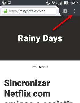 ícone três bolinhas Firefox Android
