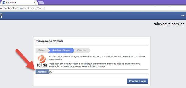 Remover Aviso de Malware do Facebook