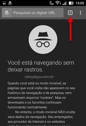 usar navegador em modo anônimo Android Chrome