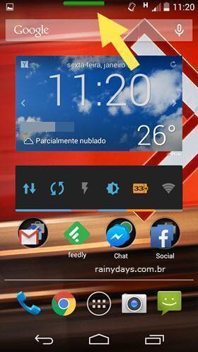 Ajustar Brilho da Tela pela Barra de Status Android