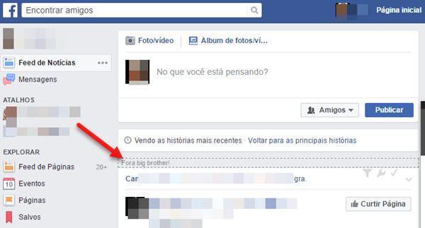 Bloquear Big Brother Brasil do Facebook com Social Fixer