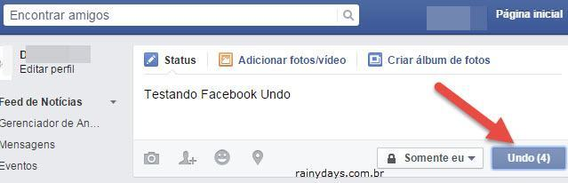 Cancelar Envio de Post no Facebook