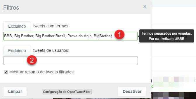 Como bloquear Big Brother no Twitter