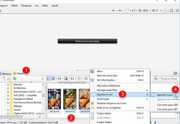 Como converter PDF para CBZ ou CB7