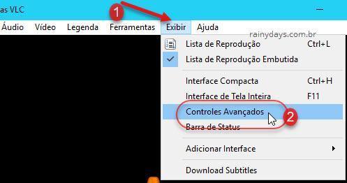 Exibir Controles Avançados VLC