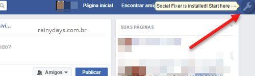 extensão Social Fixer no Facebook