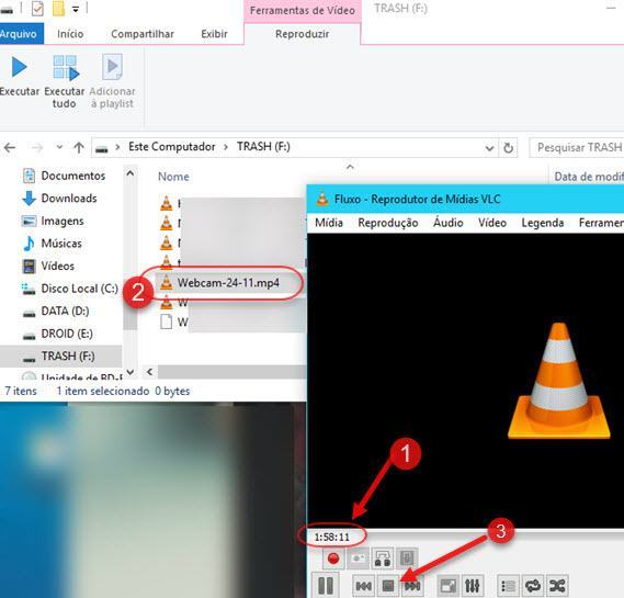gravando webcam do computador com VLC