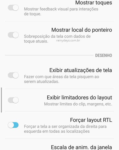 Habilitar layout para canhoto no Android