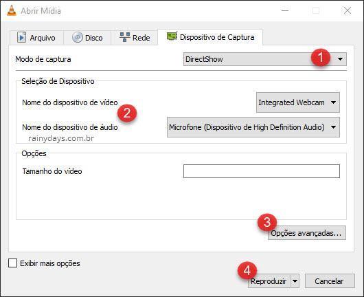 Modo de Captura DirectShow VLC
