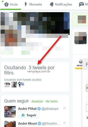 ocultando tweets por filtro Open Tweet Filter