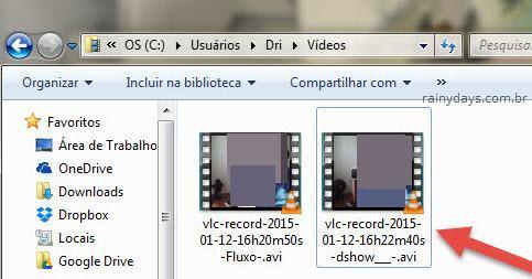 Pasta vídeos VLC