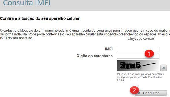 verificar IMEI na lista negra das operadoras