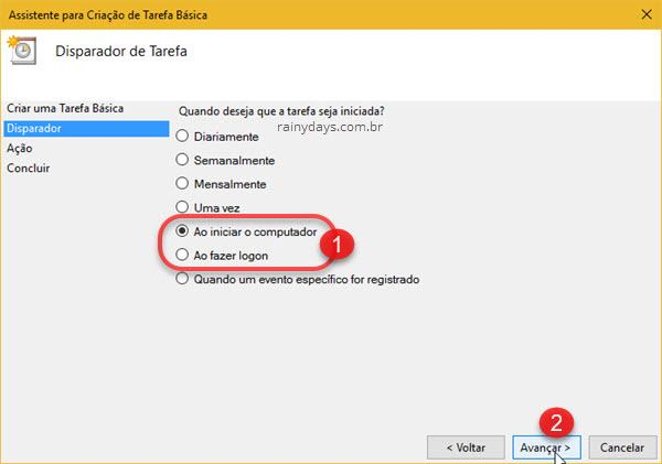 Abrir programas automaticamente quando ligar Windows