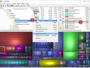 Analisador de espaço no HD para Windows