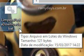 arquivo BAT para exclusão de arquivos no Windows