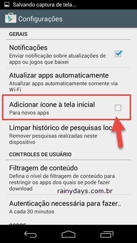 Bloquear Apps do Android de Criarem Atalho na Tela Inicial