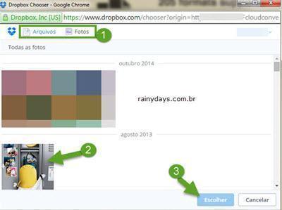 Converter arquivos direto para Dropbox 2