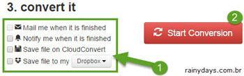 Converter arquivos direto para Dropbox 5