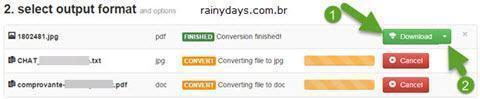 Converter arquivos direto para Dropbox 6