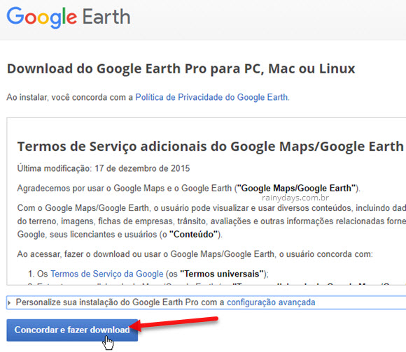 download Google Earth Pro para PC