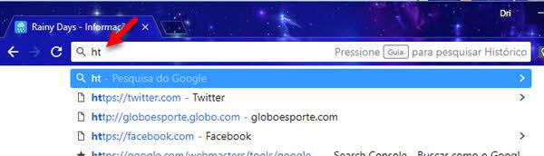 Ativar busca no Histórico do Chrome pela barra de endereços