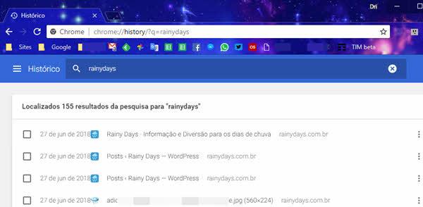 Fazer busca no histórico do Chrome pela barra de endereços