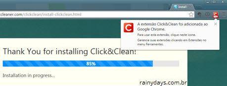 Gerenciar e limpar dados do navegador com Click&Clean