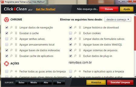 Gerenciar e limpar dados do navegador 10