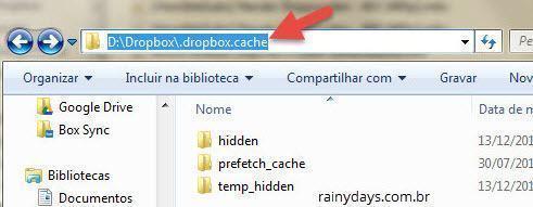 Como limpar cache do Dropbox no Windows 2