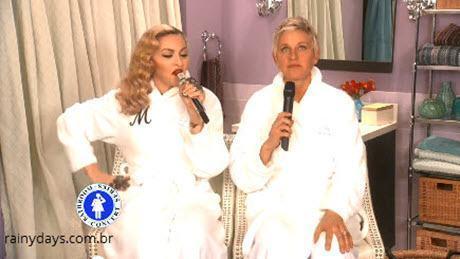 Madonna e Ellen cantando Dress You Up