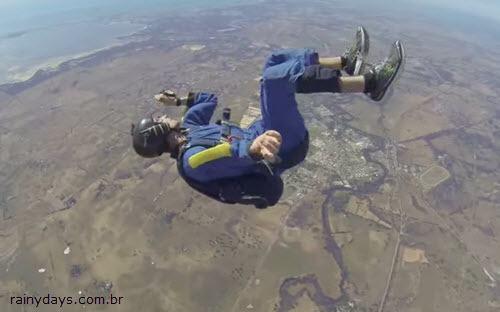 Paraquedista tem Ataque Epilético em Queda Livre