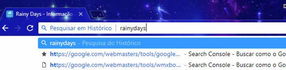 Pesquisar em Histórico pela barra do Chrome
