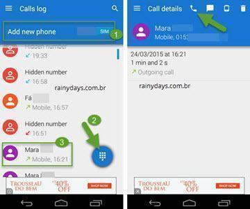 salvar ligações e SMS do Android 4