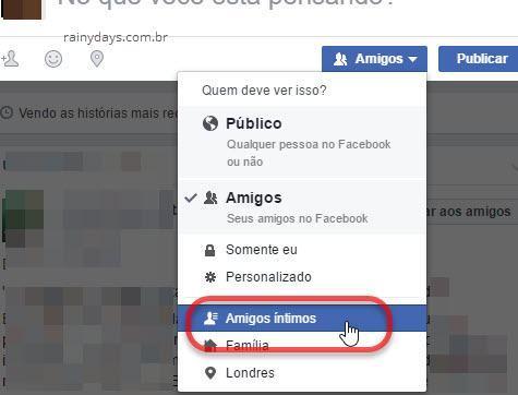 Selecionando lista de pessoas específicas post Facebook