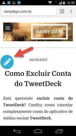 Botão Flutuante para Twittar