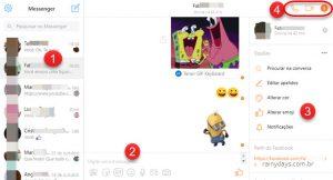 Usar Facebook Messenger no navegador sem extensão