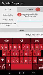 Aplicativo para comprimir vídeos no Android
